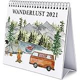 Grupo Erik CS21010 Calendario da Tavolo 2021 Wanderlust, calendario da scrivania 2021, 20 x 18 cm