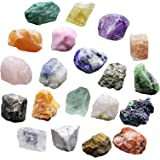 iFCOW 20 piezas de minerales de la colección de piedras minerales, educación, geología, cristales de energía, especímenes min