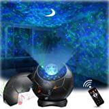 Lupantte Proyector de Luz Estelar, Lámpara Proyector con Aurora/Luna/Sonido Activado, Proyector LED de Luz con Efectos Relaja