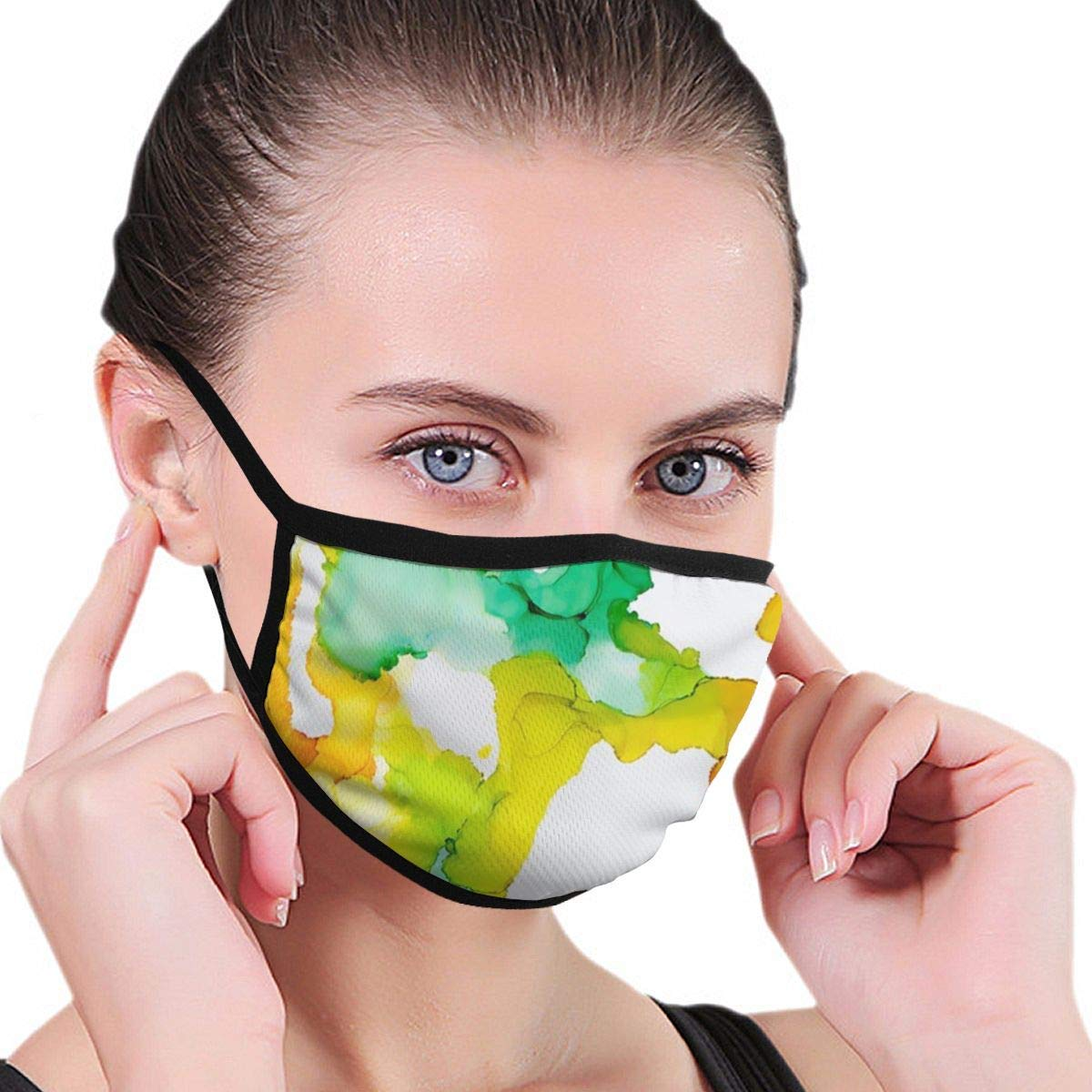Bdwuhs Mascarillas Bucales Face Mouth Mask, Prints Mouth Mask Breathable Reusable Printed Face Mask for Men and Women Black