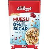 Kellogg's Muesli0%Added Sugar,Breakfast Cereal , High inIron,Source ofFibre ,NaturallyCholesterol Free ,500gPack