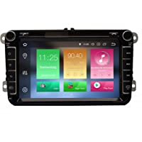 AV8V4-PRO Android 8.0 8 Zoll Bildschirm VW Autoradio mit Navigation 2 DIN Bluetooth 4 DAB Digitalradio 8 Core IPS Display USB Mirrorlink GPS CAM Canbus Sygic Verkehrsinfo für SEAT Skoda Volkswagen