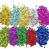 Lose Pailletten Bulk Cup Sequin Iridescent Flitter für DIY Kunsthandwerk Herstellung, 10 Farben, 6 mm, 100 Gramm
