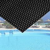 WilTec Cubierta Solar Piscina isotérmica Negra Rectangular 5x8m Lona térmica Protectora Cobertor Piscina