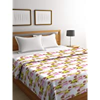 Trident Cotton Double Comforter - King Size, Multicolour