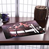 Kuber Industries PVC 6 Pieces Dining Table Placemat Set (Brown) -CTLTC11136, Standard (CTLTC011136)