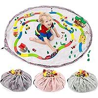all Kids United Sac de rangement pour jouets pour enfants - Diamètre : 140 cm - Sac de rangement et couverture de jeu…