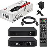 MAG 349w3 / 350w3 original HB-DIGITAL IPTV Set TOP Box mit WLAN (WiFi) integriert (802.11 b/g/n/ac dualband) Multimedia Player Internet TV IP Receiver (HEVC H.256 Support 349 350 ) + HDMI Kabel