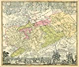 Historische Karte: Burgen-, Ritter- und Klosterkarte Thüringen und Sachsen 1000-1400. Tab. II - 1732 (Plano) - Homann Erben (Hrsg.), Friedrich Zollmann