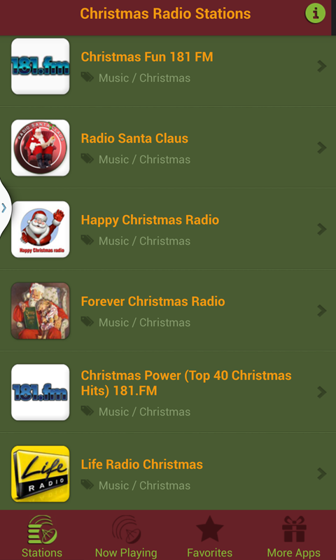 Christmas Radio Stations.Christmas Radio Stations Free Amazon Co Uk Appstore For