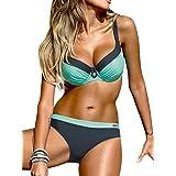 Tuopuda Costume da Bagno Donna Due Pezzi Sexy Bikini Push Up Imbottito Costumi da Mare Spiaggia Beachwear Swimwear