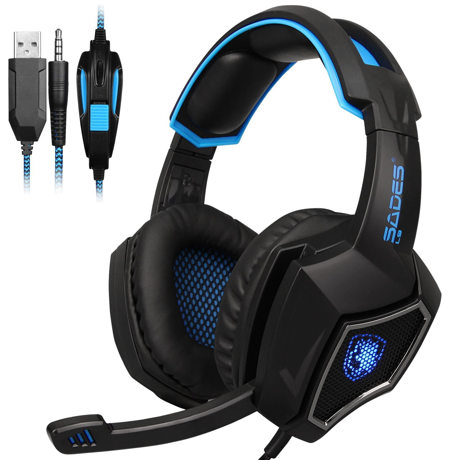 gaming headset f r ps4 kopfh rer pc laptop stereo mikrofon. Black Bedroom Furniture Sets. Home Design Ideas