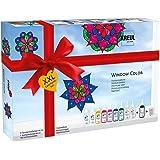 Kreul 42849 - Window Color XXL Set, für kleine und große Kreative, 9 x 80 ml Fenstermalfarben, 80 ml Konturenfarbe, eine…