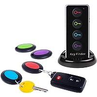 Key Finder, JTD Tracker Key Finder sans Fil/Localisateur d'éléments RF sans Fil avec Support pour Lampe de Poche à Del…
