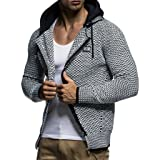 Leif Nelson Men Cardigan Jacket Hood LN-7055