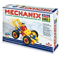 Plastic Mechanix Cars – 1, 4 models Educational, STEM Learning, Building and Construction Toy, Age 3 to 8 Boys and Girls
