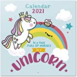 Grupo Erik Calendario 2021 da Muro Unicorn, calendario bambini, 12 mesi, include poster regalo, 30x30 cm