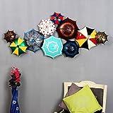 Mahalaxmi Art Handcrafted Metal Multicolor Wall Hanging Umbrella Panel (58x5x27 Inches) Wall Mounted & Hanging Art Sculpture