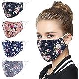 Genovega Fashion Face Mask with Adjustable Ear Loops,Washable Reusable Soft Fabric