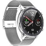 Microwear Smartwatch heren fitness tracker, IP68 waterdicht sporthorloge smart watch voor heren met stappenteller, stopwatch,