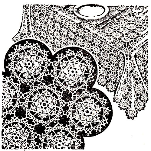 Snowflake Tablecloth Bedspread Crochet Motif Pattern Two Ways to Join for Different Looks