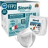 50 Mascherine FFP2 Certificate CE Made in Italy SICURA BFE ≥99% Mascherina Produzione italiana e Sanificata…