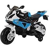 HOMCOM Moto Eléctrica para Niños de +3 Años 12V Licenciado BMW con Faros Bocina 2 Ruedas de Equilibrio Velocidad Máx. de 5 km