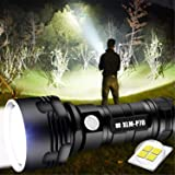 30000-100000 Lumen Krachtige Led Waterdichte Zaklamp Lamp Ultra Helder, Oplaadbaar Hand Zoeklicht Voor Outdoor Wandelen Jagen