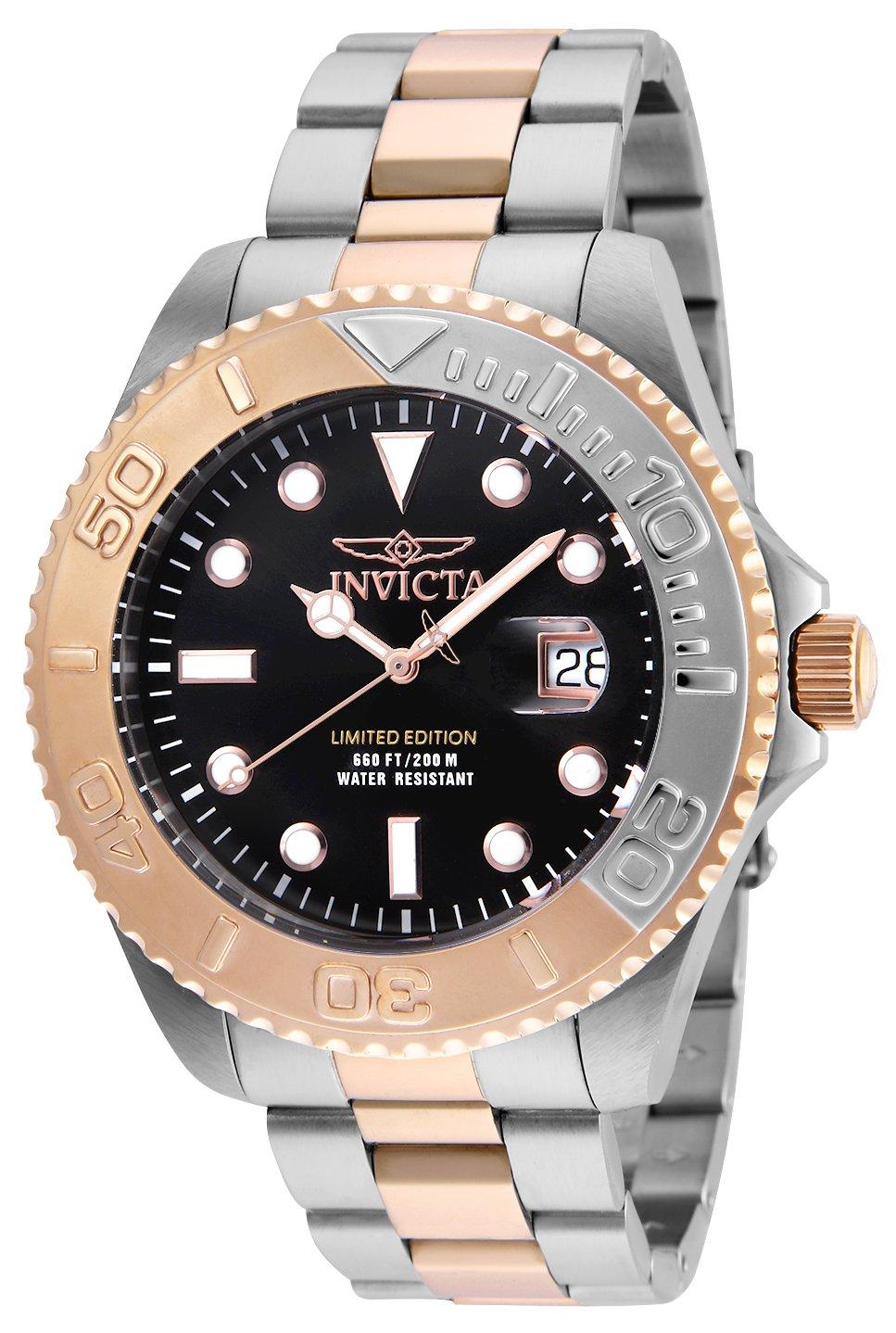 Invicta 24625 Pro Diver  Reloj para Hombre acero inoxidable Cuarzo Esfera negro