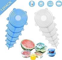 tapas de silicona elásticas,tapas silicona ajustables cocina,tapas silicona,tapa de almacenamiento de alimentos sellada...