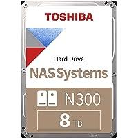 Toshiba N300 8 TB NAS 3.5'' SATA Interne Festplatte. 24/7-Betrieb, optimal für NAS mit 1–8 Einschüben, 256 MB…