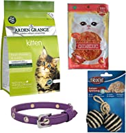Cat Arden Grange Food, Trixie cat Toys and Collar Combo (The Epic Cat Kit)