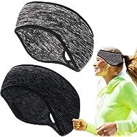 OSELEE Fleece Ponytail Headband, Lightweight Winter Headband Ear Warmers Stretchy Sport Band, for Women Yoga/Skiing…