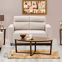 Home Centre Polyester Emily Fabric Sofa-2 Seater, Beige