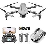 Fällbar GPS-drone med 4K FHD-kamera och 2-axliga gimbal för vuxna, professionell borstlös quadcopter, följ mig, 2km flyg, 25