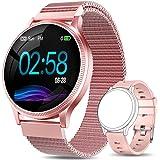 AIMIUVEI Smartwatch Mujer, Reloj Inteligente Mujer con Pulsómetro, Impermeable IP67, Presión Arterial, Monitor de Sueño Calor
