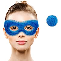 Samson Ergo Bead Gel Eye Mask with Eye Holes- Hot Cold Compress Pack Eye Therapy | Cooling Eye Mask - Reusable Eye Face…