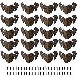WJUAN 24 stuks antieke meubelhoeken rand rechthoekige beschermers, wordt gebruikt voor randbescherming randafdekking van kist