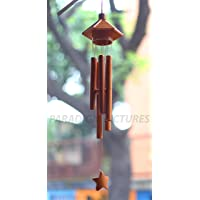 Paradigm Pictures Bamboo Wind Chime for Home || Wooden Wind Chimes for Garden (Dark Brown)