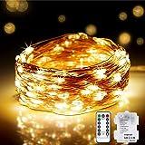DeepDream LED Luces de Cadena Pilas, 20M 200LED Guirnaldas Luminosas con Control Remoto,Impermeable luces Interior y exterior