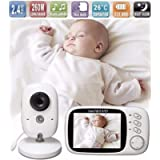 Lullaby Bay Video Baby Monitor with Camera. Anti-Hack Encryption. Wireless Digital 3.2 inch LCD Screen. Night Vision…