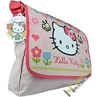 HELLO KITTY Schultertasche / Umhängetasche Kindertasche für Mädchen mit Klettverschluss / rosa / abwischbar / perfekt…