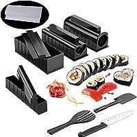 Kit Sushi Maki Complet, Cuisine Machine Sushi Maker 12 Pièces Compatible Avec Riz Japonais Set Ustensiles Avec Couteau…