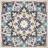 Cuadros Lifestyle 2D-Wandobjekt aus Holz   Oriental   Ornament   Mandala   Floral   Holzbild   Shabby-Look   Landhaus   Vintage   Holzobjekt   Deko   Holzdruck   Geschenk, Größe:ca. 50x50cm