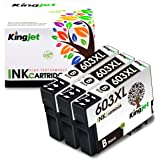 Kingjet 603XL Cartuccia di inchiostro Compatibile per Epson 603 XL 603XL per Epson Expression Home XP-2100 XP-2105 XP-3100 XP
