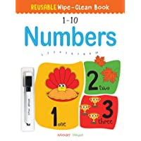 Reusable Wipe And Clean Book 1-10 Numbers : Write And Practice Numbers (1-10) (Reusable Wipe and Clean Books)