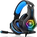 Cuffie Gaming per PS4 Xbox One, Multi-Platform Riduzione del Rumore Cuffie con Microfono Confortevole Stereo Bassi…