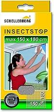 Schellenberg 20403 Fliegengitter für Fenster | zuverlässiger Schutz vor Mücken, Fliegen, Insekten & Ungeziefer | Maße: 100 x 100 cm | weiß | einfache Montage ohne bohren | inkl. Befestigungsband