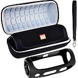 Tasche für JBL Flip 4 Bluetooth Box in Schwarz – Wasserdichter, Tragbarer Lautsprecher mit Freisprechfunktion
