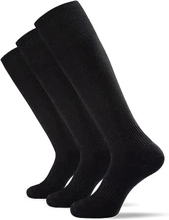 Tmani Football Sport Socks, Cushioned Winter Boots Socks Anti Slip Rugby Socks Compression Socks Rugby/ Soccer/ Hockey/ Cycling/ Running For Men Women ( 3 Pairs, UK Size 5-11)